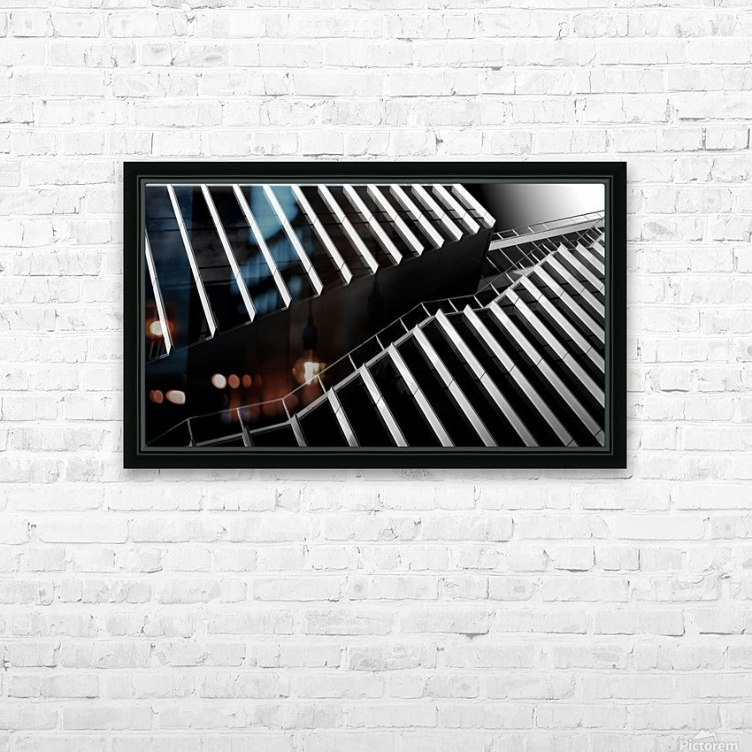 Up between the facades HD Sublimation Metal print with Decorating Float Frame (BOX)