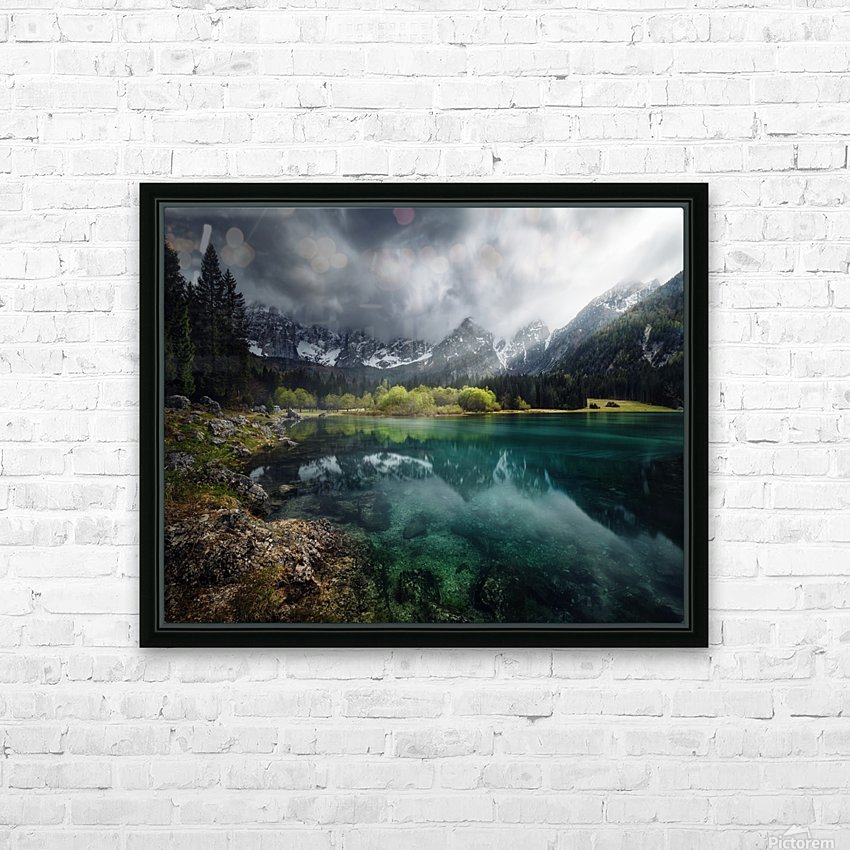 Azul turquesa. HD Sublimation Metal print with Decorating Float Frame (BOX)