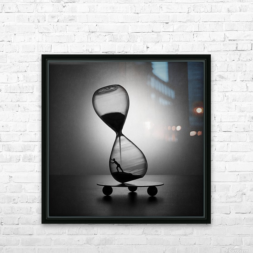 Stop the time HD Sublimation Metal print with Decorating Float Frame (BOX)