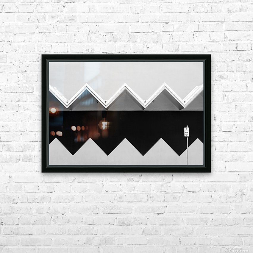 Zig Zag Shadow HD Sublimation Metal print with Decorating Float Frame (BOX)
