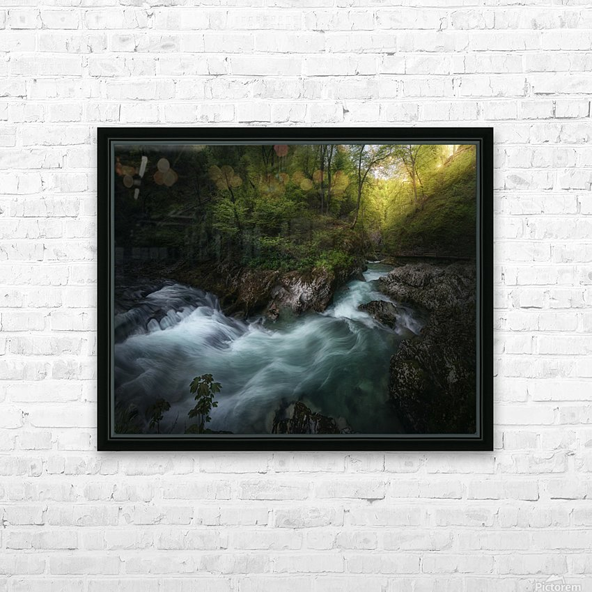Gorge 1. HD Sublimation Metal print with Decorating Float Frame (BOX)