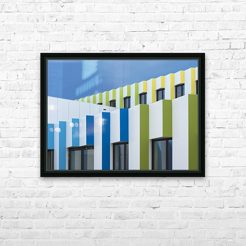 Triple facades HD Sublimation Metal print with Decorating Float Frame (BOX)