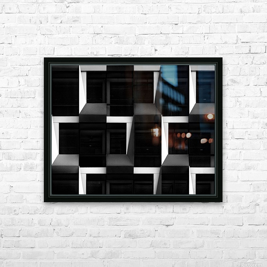 B&W HD Sublimation Metal print with Decorating Float Frame (BOX)