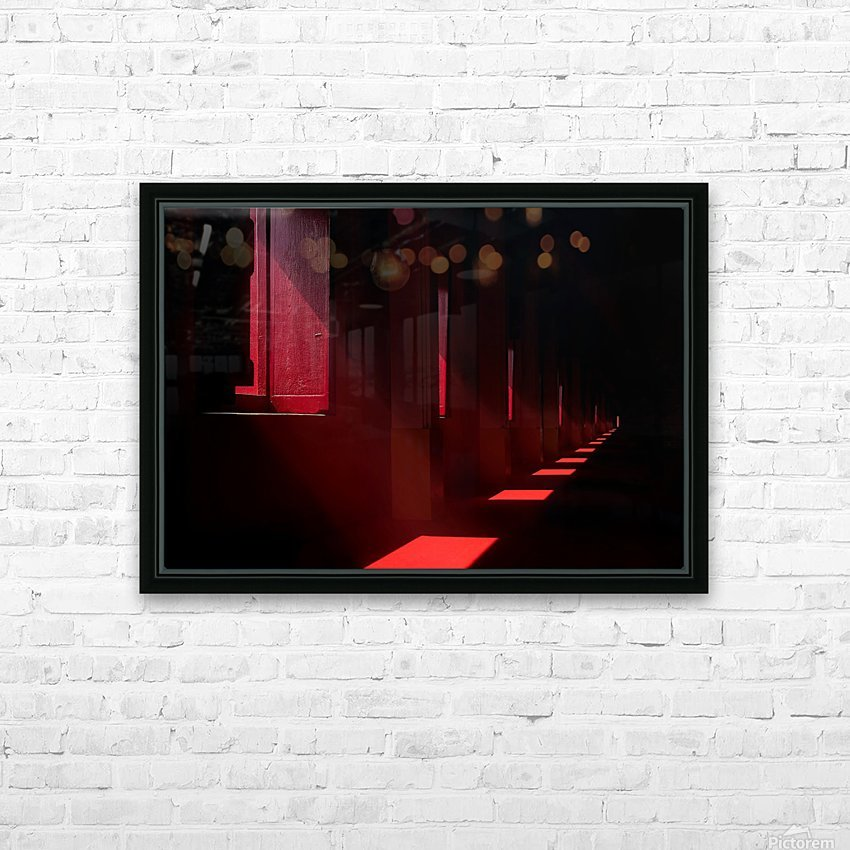 In the red temple HD Sublimation Metal print with Decorating Float Frame (BOX)