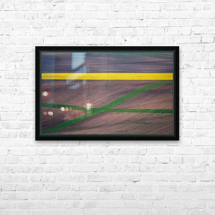 Painting the fields HD Sublimation Metal print with Decorating Float Frame (BOX)