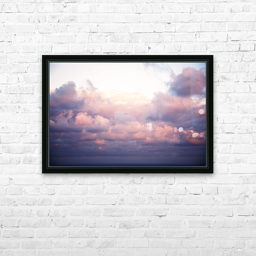 Cumulous pink clouds over horizon; Aina Haina, Oahu, Hawaii, United States of America HD Sublimation Metal print with Decorating Float Frame (BOX)