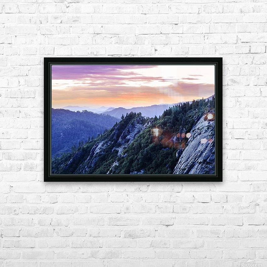 View from Moro Rock at dusk, Sequoia National Park; California, United States of America HD Sublimation Metal print with Decorating Float Frame (BOX)