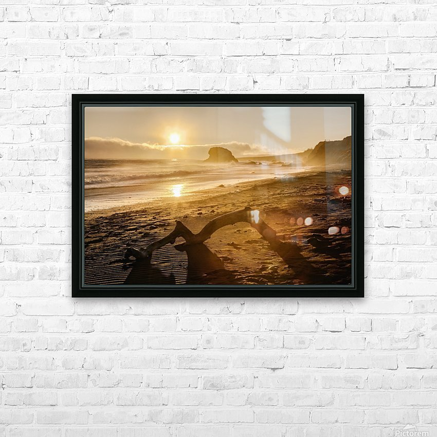 Seashore at sunset, San Simeon State Park; California, United States of America HD Sublimation Metal print with Decorating Float Frame (BOX)