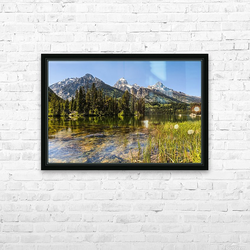 Taggart Lake and Grand Teton, Grand Teton National Park; Wyoming, United States of America HD Sublimation Metal print with Decorating Float Frame (BOX)