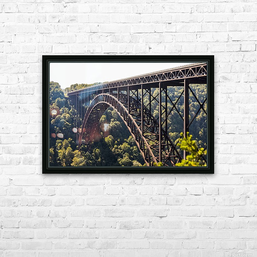The New River Gorge Bridge is a steel arch bridge 3,030 feet long over the New River Gorge near Fayetteville, in the Appalachian Mountains of the Eastern United States; West Virginia, United States of America HD Sublimation Metal print with Decorating Float Frame (BOX)
