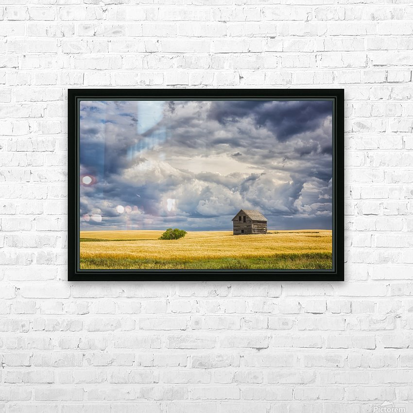 Abandoned building along the roads of rural Saskatchewan; Saskatchewan, Canada HD Sublimation Metal print with Decorating Float Frame (BOX)