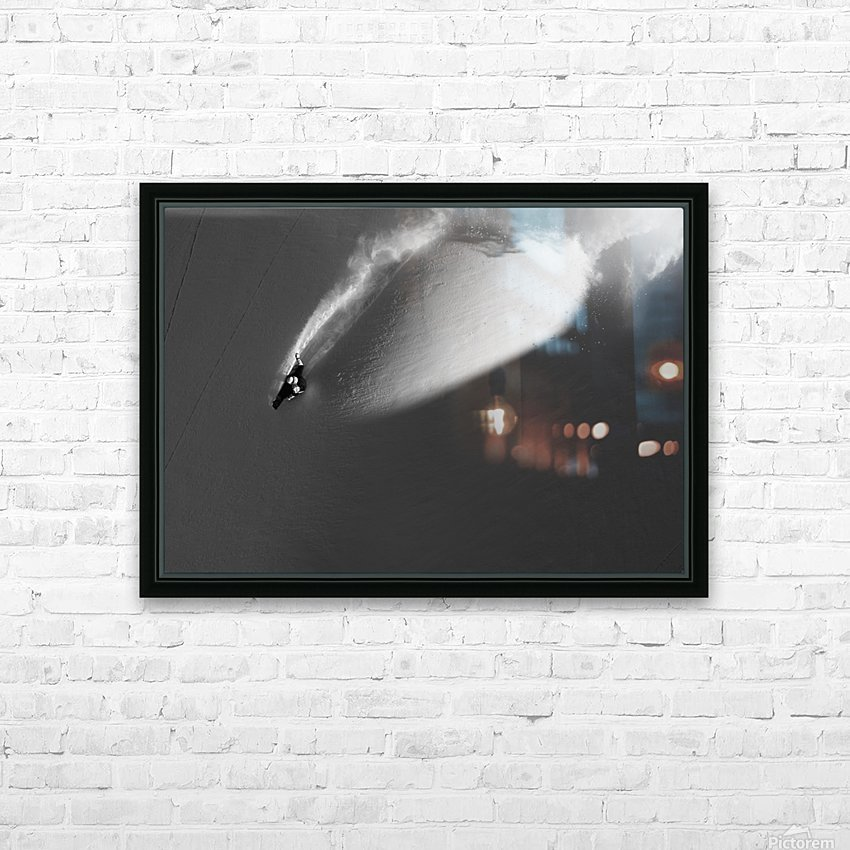 Person extreme snowboarding in mountains above Haines, Southeast Alaska, USA HD Sublimation Metal print with Decorating Float Frame (BOX)