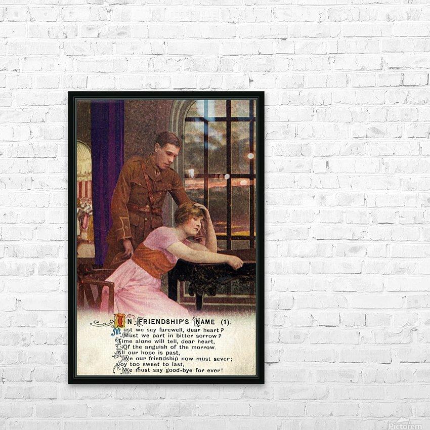 Original  First World War postcard HD Sublimation Metal print with Decorating Float Frame (BOX)