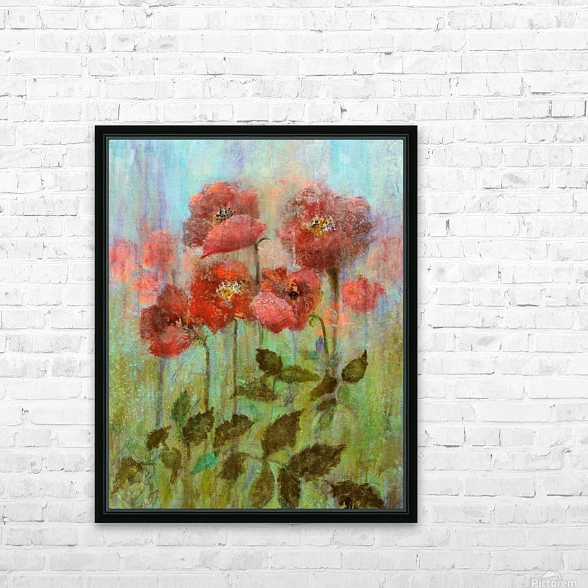 Poppies In Pastel Red HD Sublimation Metal print with Decorating Float Frame (BOX)