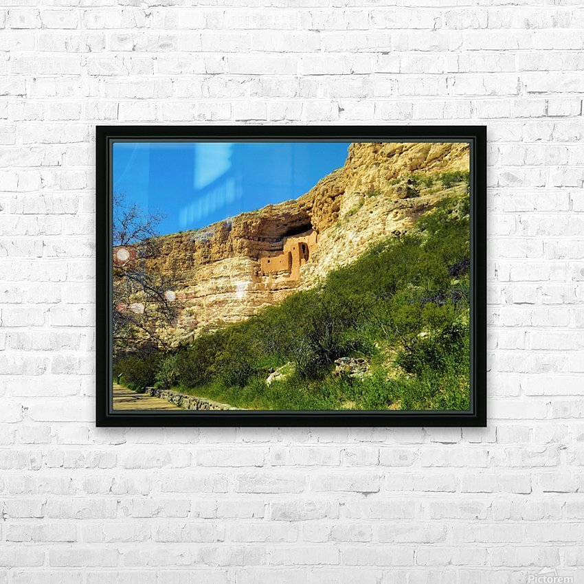 Montezuma's Castle  HD Sublimation Metal print with Decorating Float Frame (BOX)