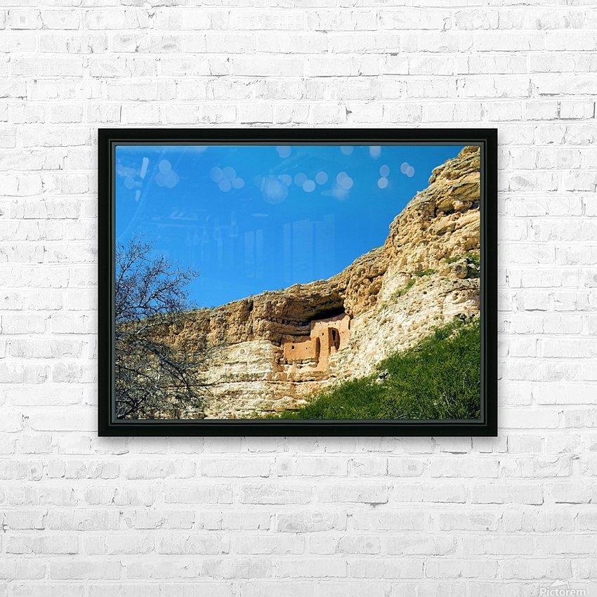 Montezuma's Castle-10 HD sublimation métal imprimé avec décoration flotteur cadre (boîte)