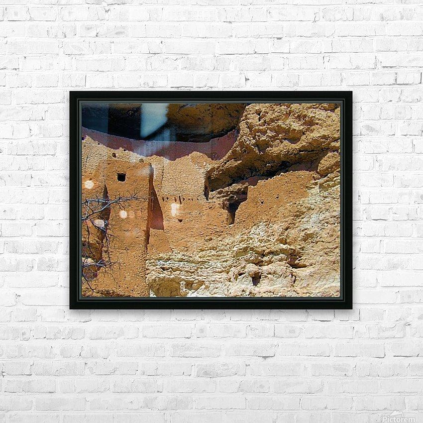 Montezuma's Castle-4 HD sublimation métal imprimé avec décoration flotteur cadre (boîte)