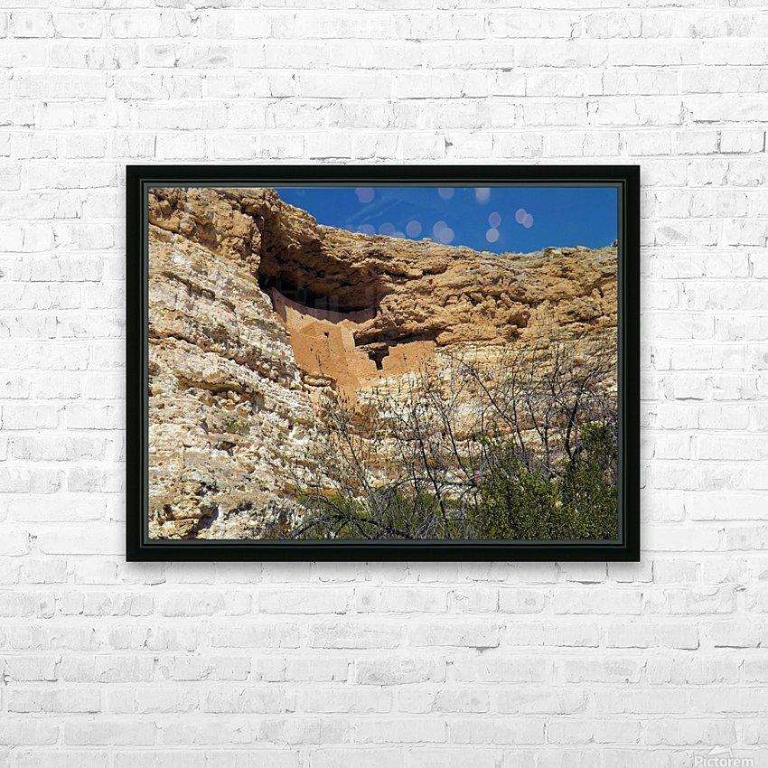 Montezuma's Castle-3 HD Sublimation Metal print with Decorating Float Frame (BOX)