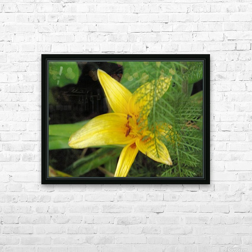 Yellow Flower-2 HD Sublimation Metal print with Decorating Float Frame (BOX)