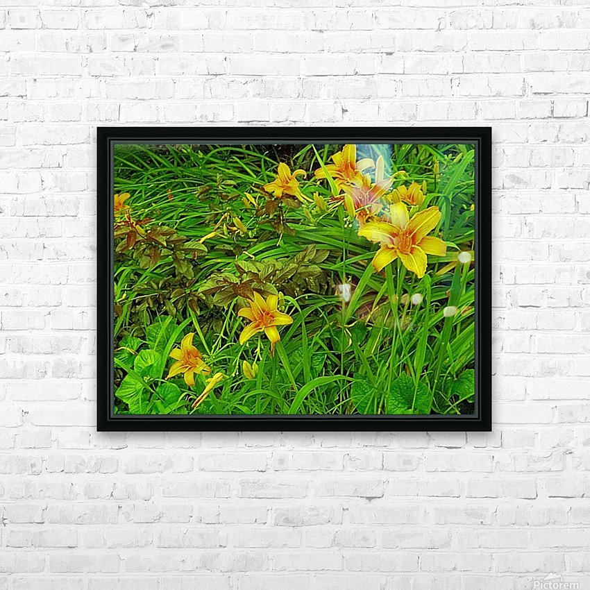 Yellow Flower-1 HD Sublimation Metal print with Decorating Float Frame (BOX)