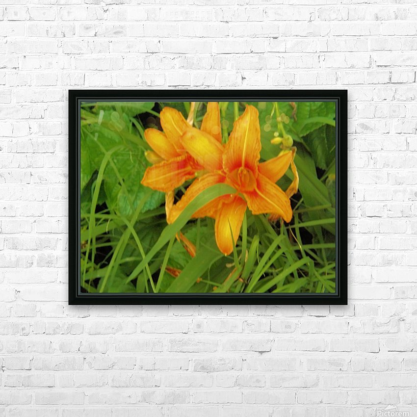 Oranger Lilly 2 HD Sublimation Metal print with Decorating Float Frame (BOX)