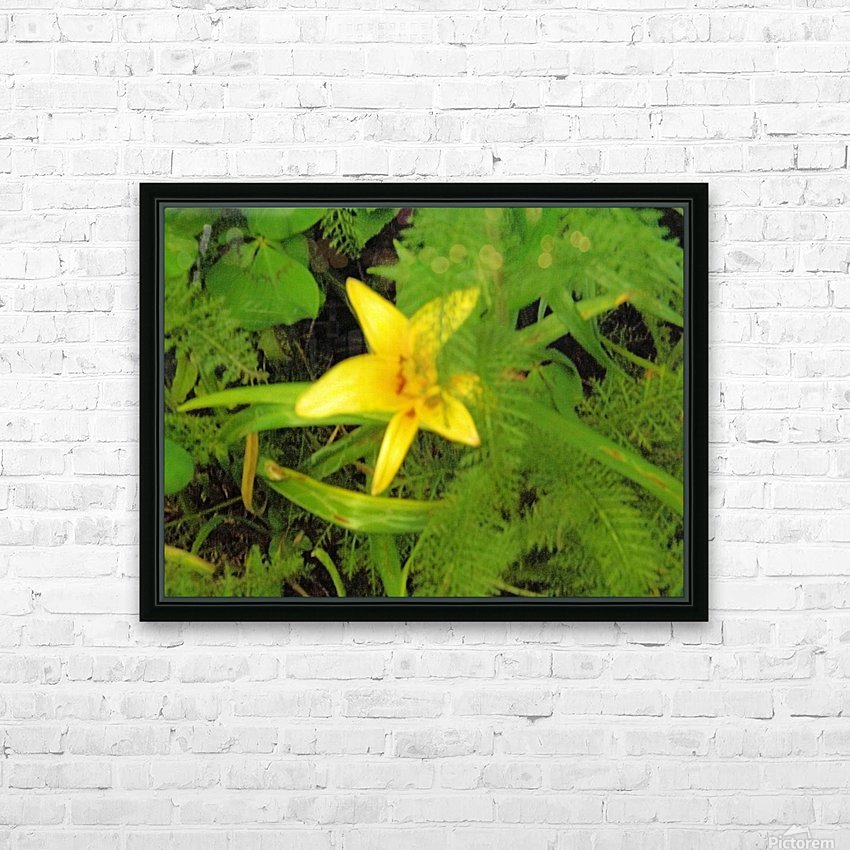 Yellow Flower HD Sublimation Metal print with Decorating Float Frame (BOX)