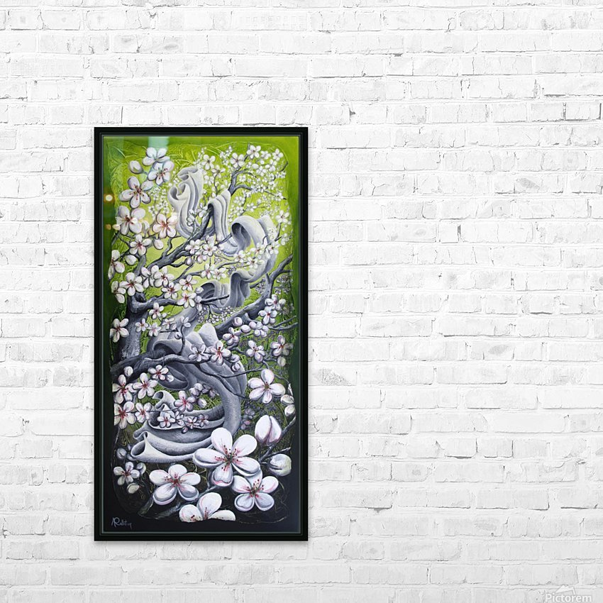 Cherry blossom dance HD Sublimation Metal print with Decorating Float Frame (BOX)