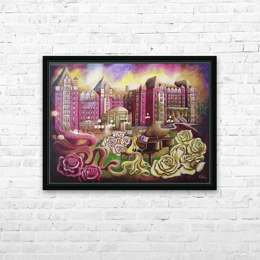 Meet me in the rose garden HD Sublimation Metal print with Decorating Float Frame (BOX)