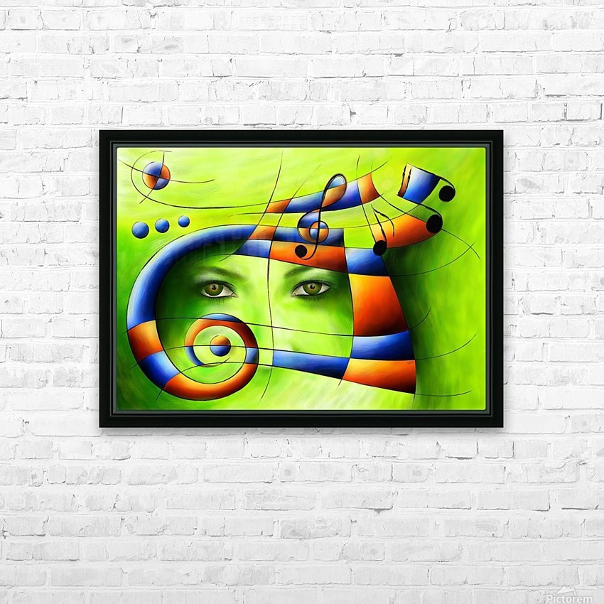 Hispanissia - painted music HD Sublimation Metal print with Decorating Float Frame (BOX)