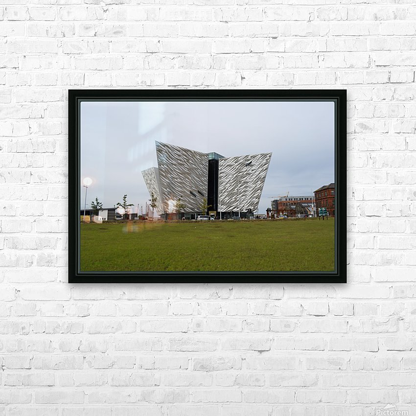 THE TITANIC MUSEUM, BELFAST HD Sublimation Metal print with Decorating Float Frame (BOX)