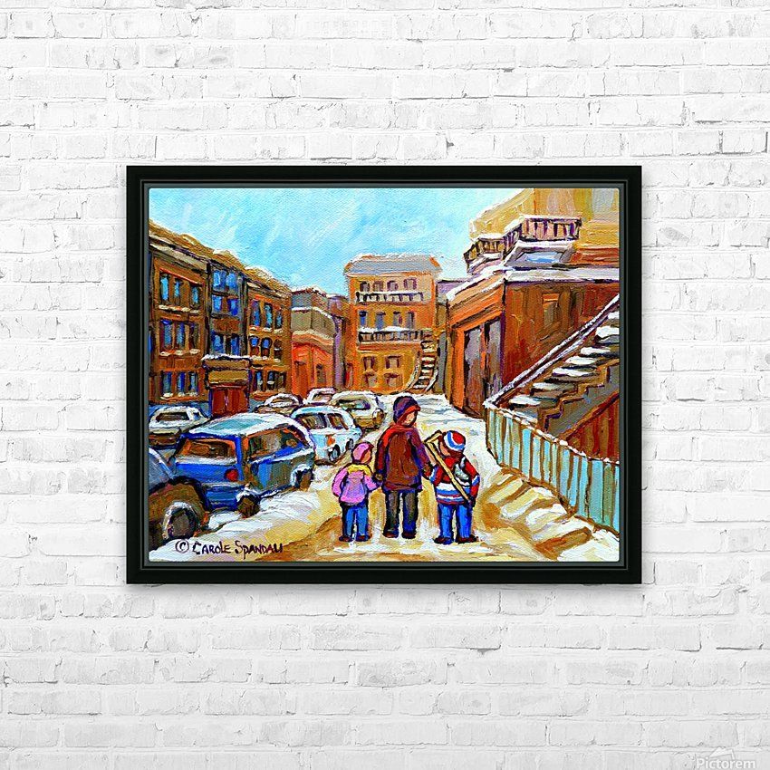 BEAUTIFUL DAY FOR A WALK IN MONTREAL HD Sublimation Metal print with Decorating Float Frame (BOX)