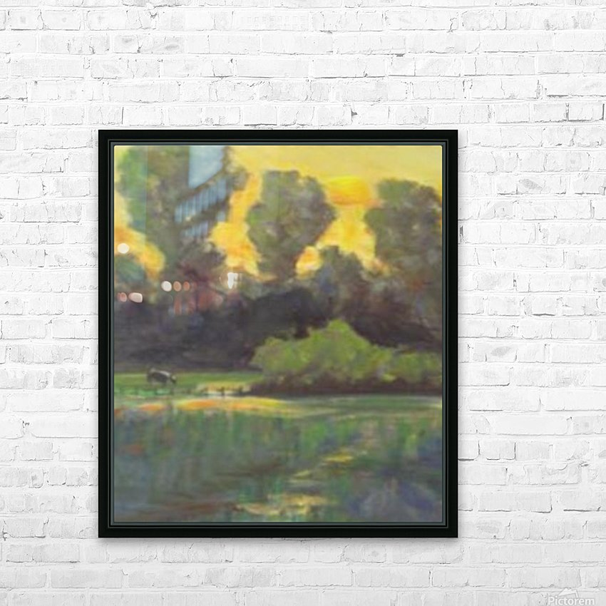 Pasture at dusk HD Sublimation Metal print with Decorating Float Frame (BOX)