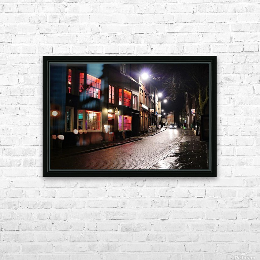 Red house HD Sublimation Metal print with Decorating Float Frame (BOX)