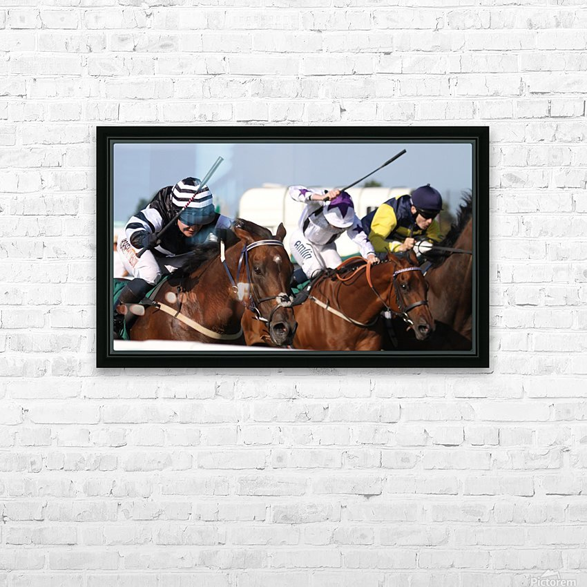 Whip race HD Sublimation Metal print with Decorating Float Frame (BOX)