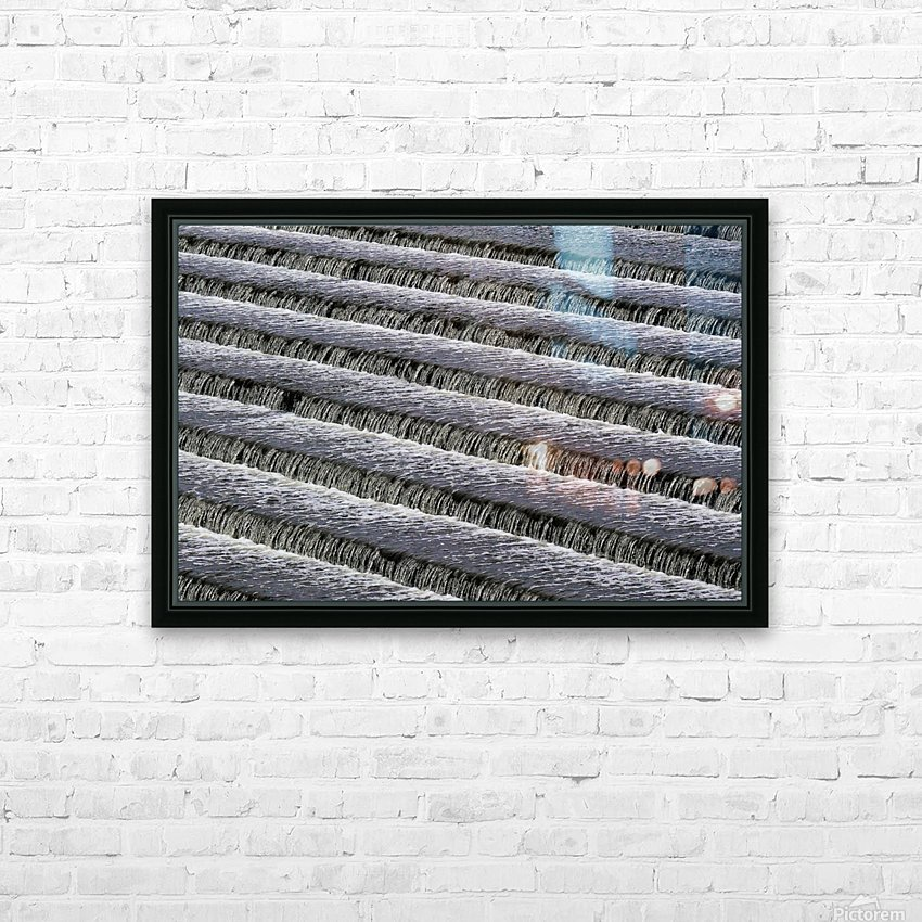 Weir steps HD Sublimation Metal print with Decorating Float Frame (BOX)