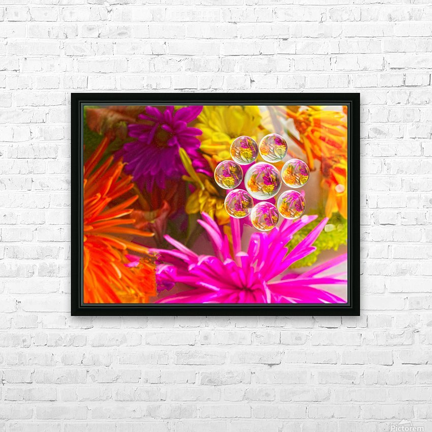 FLOWERS REFRACTION 12 HD Sublimation Metal print with Decorating Float Frame (BOX)