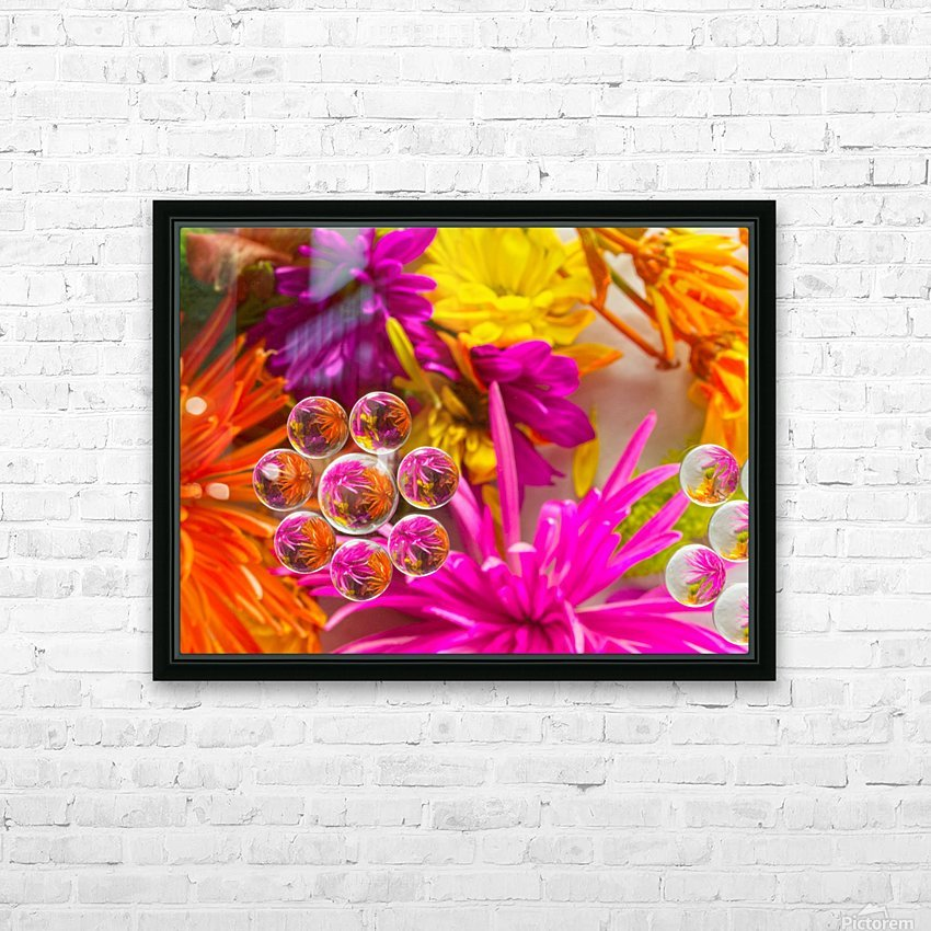 FLOWERS REFRACTION 10 HD Sublimation Metal print with Decorating Float Frame (BOX)