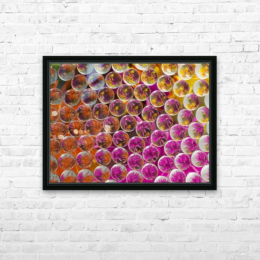 FLOWERS REFRACTION 5 HD Sublimation Metal print with Decorating Float Frame (BOX)