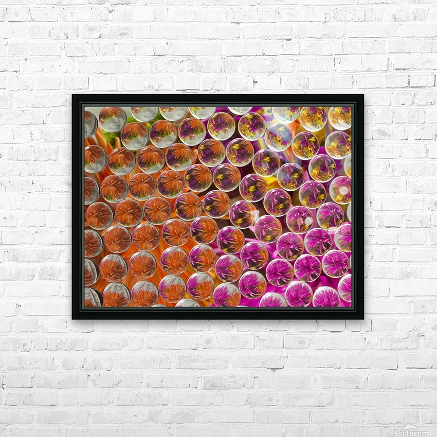 FLOWERS REFRACTION 4 HD Sublimation Metal print with Decorating Float Frame (BOX)