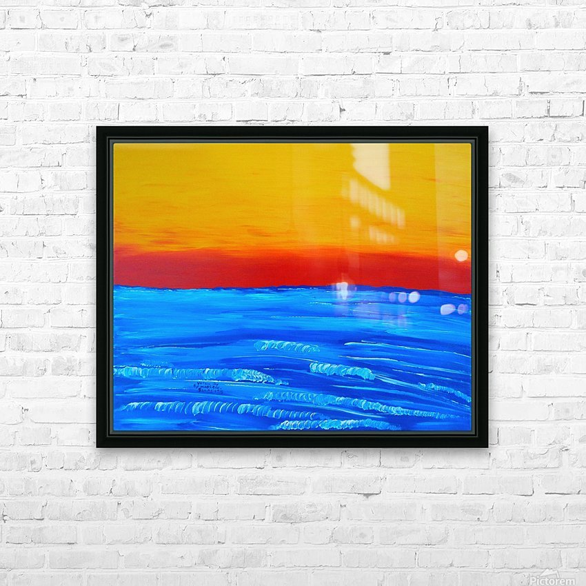 31 x2_31_031 yellow_sky R HD Sublimation Metal print with Decorating Float Frame (BOX)