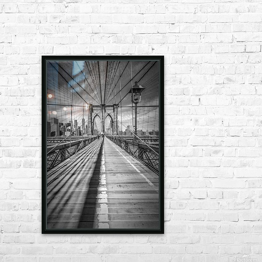 NEW YORK CITY Brooklyn Bridge HD Sublimation Metal print with Decorating Float Frame (BOX)