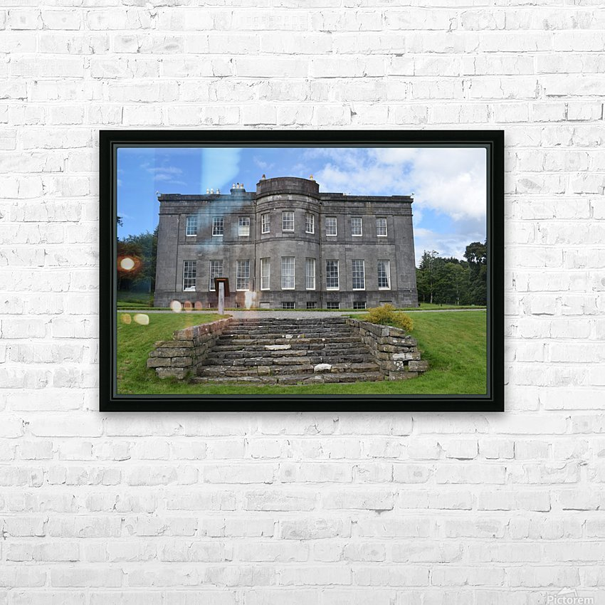 LISSADELL HOUSE & GARDENS HD Sublimation Metal print with Decorating Float Frame (BOX)