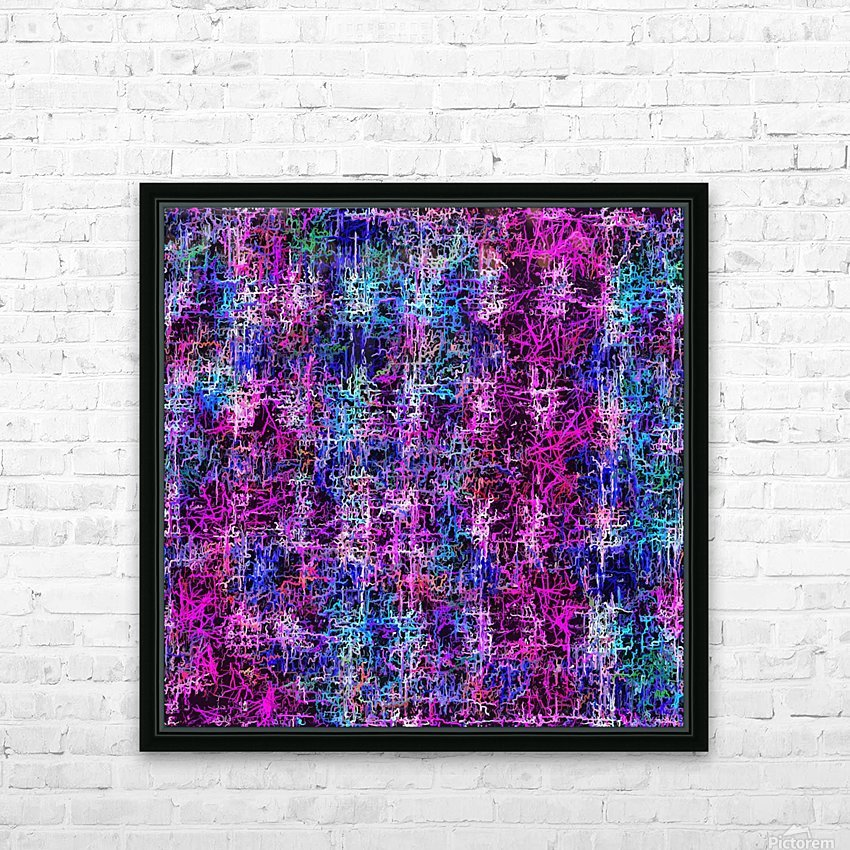 psychedelic abstract art pattern texture background in pink blue black HD Sublimation Metal print with Decorating Float Frame (BOX)