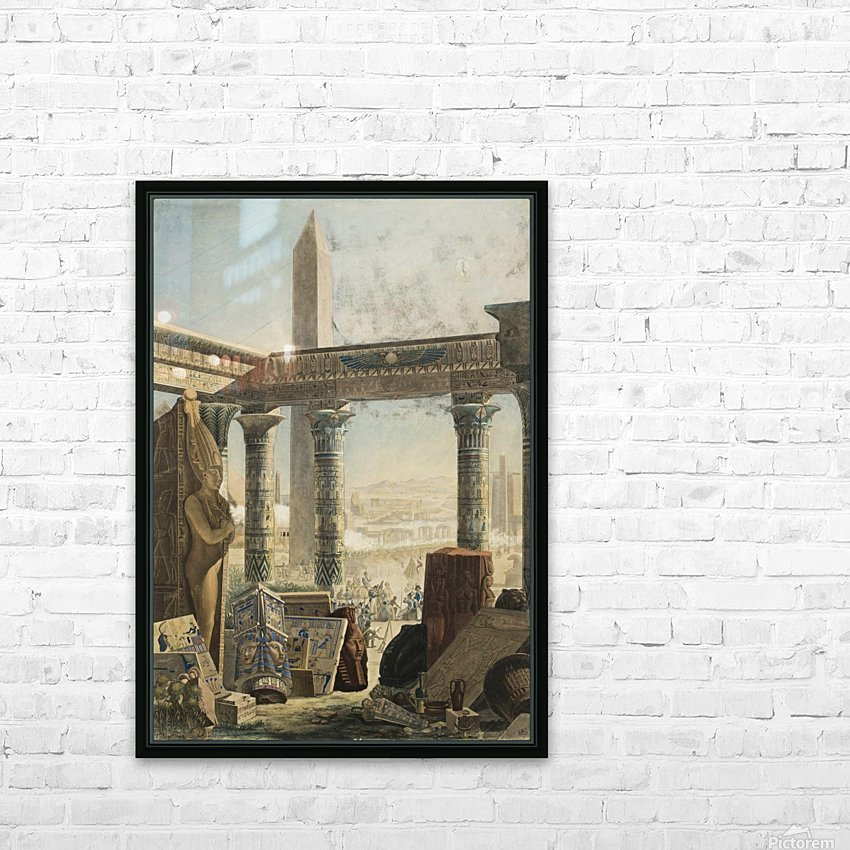 The description of Egypt, 1824 HD Sublimation Metal print with Decorating Float Frame (BOX)