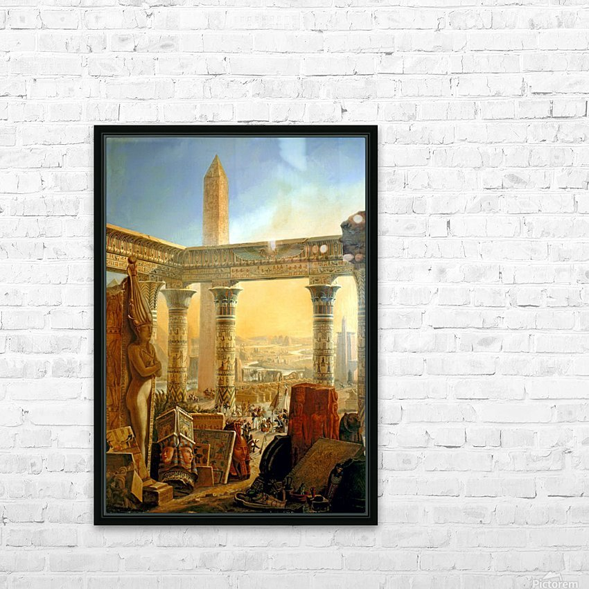 Monuments of Egypt, 1821 HD Sublimation Metal print with Decorating Float Frame (BOX)