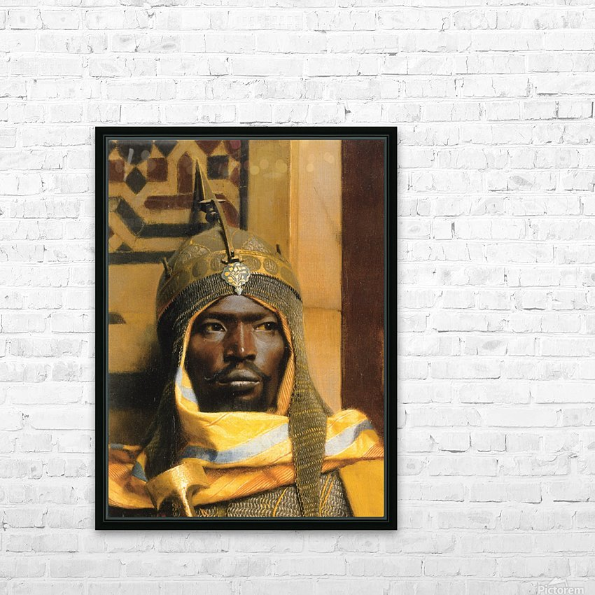 Portrait of Nubian Palace Guard HD Sublimation Metal print with Decorating Float Frame (BOX)