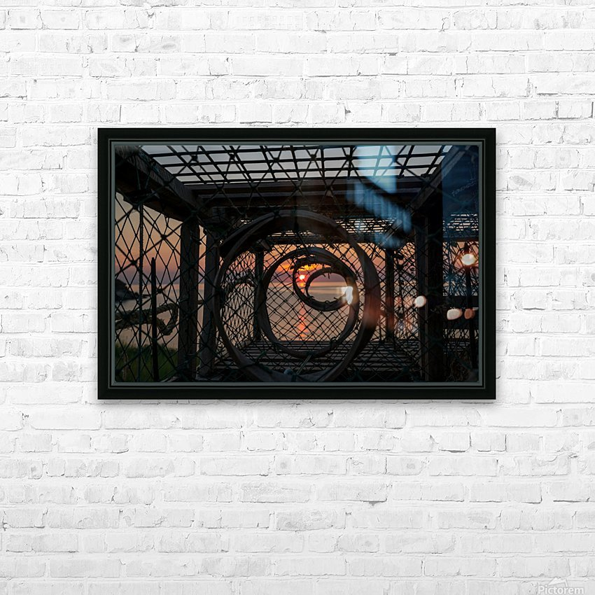 Trapped Sunset HD Sublimation Metal print with Decorating Float Frame (BOX)