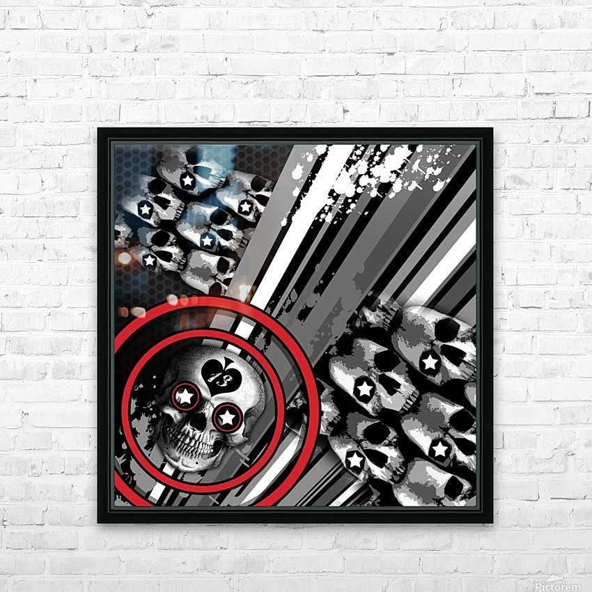 hoodtest_max HD Sublimation Metal print with Decorating Float Frame (BOX)