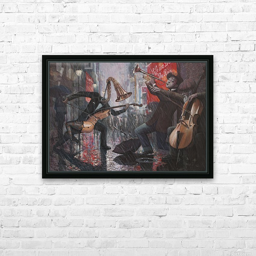 Life is a Dance in The Rain V HD Sublimation Metal print with Decorating Float Frame (BOX)