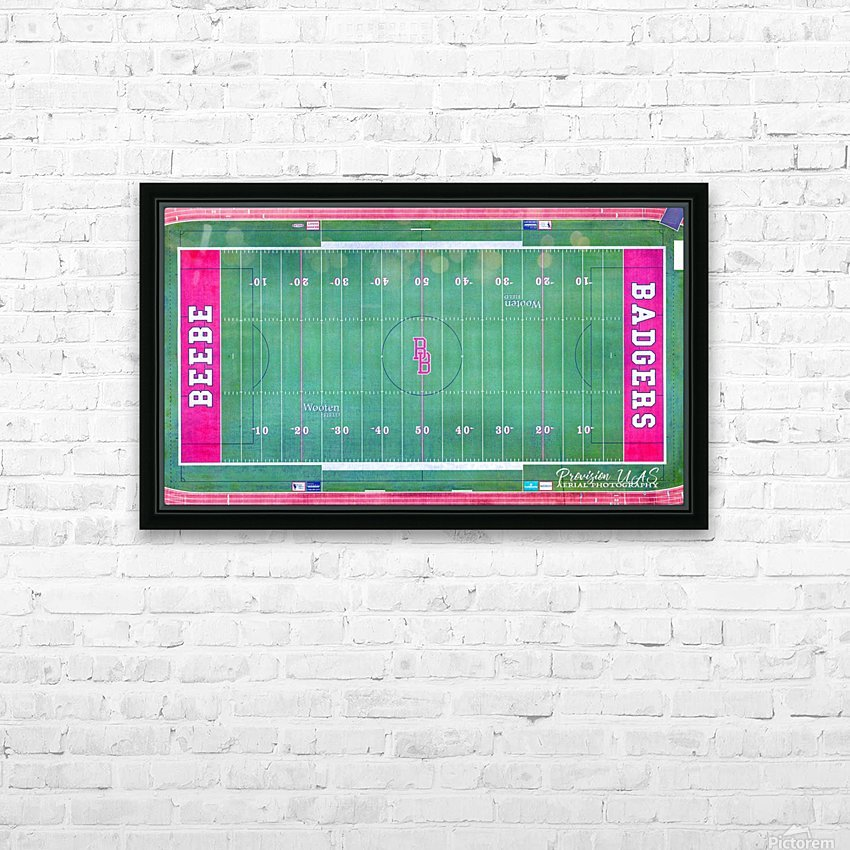 Beebe, AR | Badger Football Field HD Sublimation Metal print with Decorating Float Frame (BOX)
